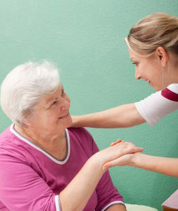 College Park Home Care Nurse with patient